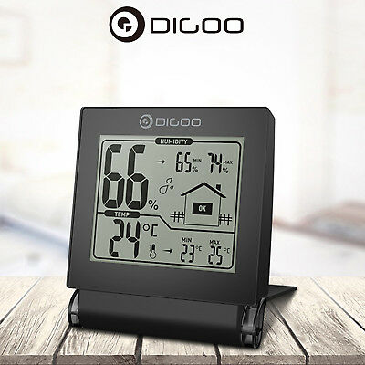 Digoo DG-TH1117 Foldable Digital Temperature Humidity Monitor Weather Station