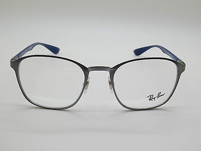 8942abef21f New Authentic Ray Ban RB 6357 2878 Brushed Gunmetal Blue 51mm RX Eyeglasses