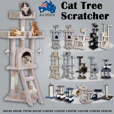 Cat Tree Scratching Post Scratcher Pole Gym Toy House Furniture Multi Level IW