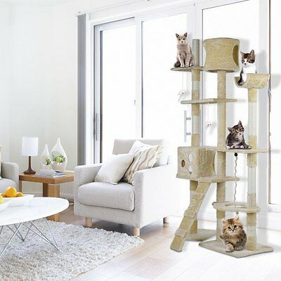 176cm Cat Kitten Tree Tower Furniture Toy Scratching Pole Post Activity Gym IU