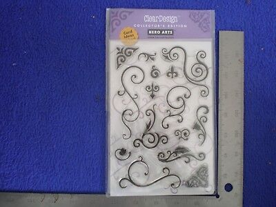 "Hero Arts Cleardesign Stamp Cl116 ""Fancy Scrolls"" Penny Black Stampendous!"