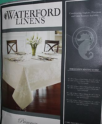 Waterford Linens X-Large Tablecloth 70 X 144 Oblong New Seats 12-16 People