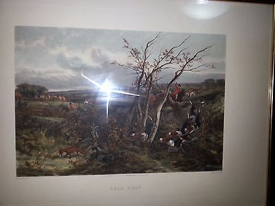 Antique Engraving  Fox Hunting DEAD BEAT Fores National Sports Hunting J, Harris