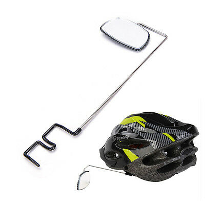Bike Bicycle Cycling Riding Mirror Helmet Mount Rearview Rear View Eyeglass MO