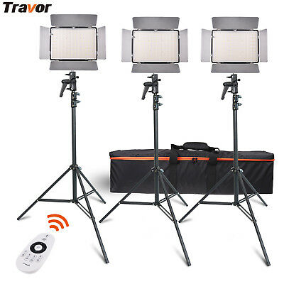 Travor 3PCS TL-600A 2.4G Bi-Color 600 LED Video Light Photography Shooting Kit