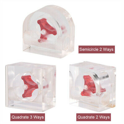 2 Way G1/4 Thread 3 Impeller Acrylic Flow Meter Indicator For PC Water Cooling