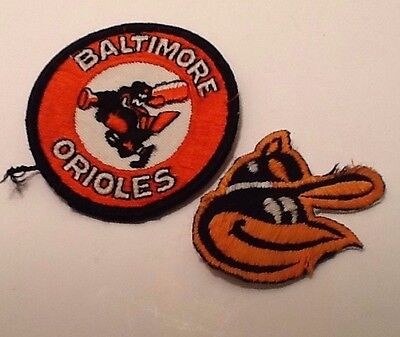 Lot of Two Vintage Baltimore Orioles Baseball Sew On Patches, One In Bad Shape