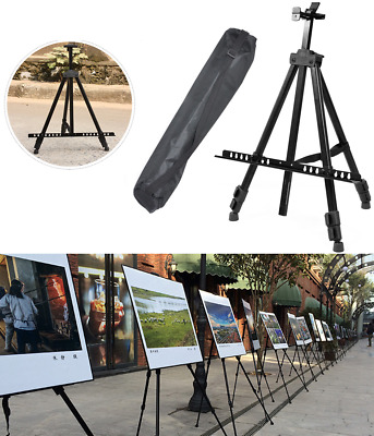 Durable Field Studio Folding 1.6m Telescopic Painting Easel Tripod Display Stand