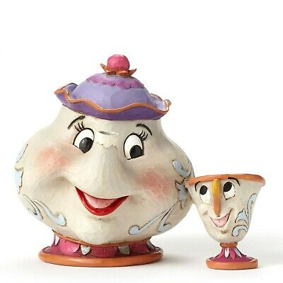 Jim Shore Disney Traditions - MRS POTTS AND CHIP Beauty and the Beast figurin...