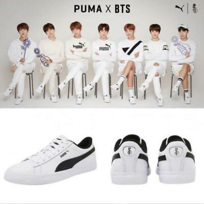 BTS x Puma Bangtan Boys Court Star Shoes Sneakers Photocard Box Packing