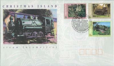 Christmas Island 1994 First Day Cover FDC - Steam Locomotives