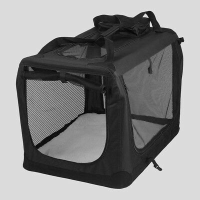 AVC Fabric Pet Carrier Black Folding Dog Cat Transport Bag (Medium) Inc Warranty