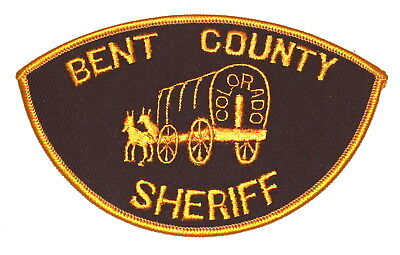 BENT COUNT COLORADO CO Police Sheriff Patch CONESTOGA COVERED WAGON  VINTAGE OLD