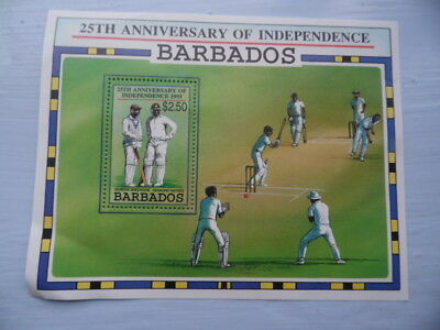 nickstampshop ~~ Barbados 25th Anniversary of Independence 1991 ~ MNH ~ SgMS970