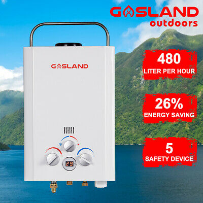GASLAND ECO LPG Gas Portable Hot Water Heater Instant Camping Shower Caravan 4WD
