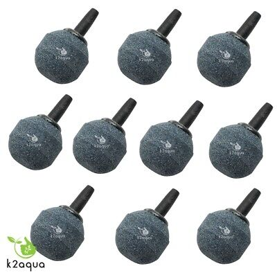 Air Stone 20mm Round Aquarium Pond AIRSTONES Oxygen Bubbles Pump Fish Tank