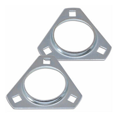Triangle Type 30mm Axle Bearing Mounting Plates - Axle Set - Pack of 4