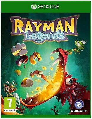 Microsoft Xbox One CD Rayman Legends Sequel Video Game Side Scrolling Action