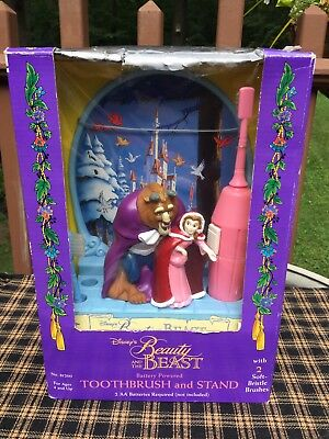 Disney's Beauty and The Beast Belle Toothbrush and Stand Vintage Janex 1992 NIB
