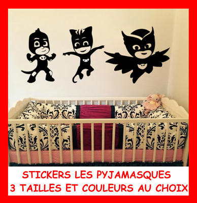 Lot Set Grand Sticker Mural Enfant Figurine Gluglu Yoyo Pj Masks Les Pyjamasques