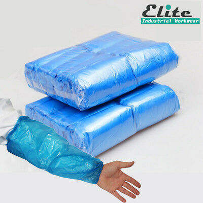 SAFETOUCH Blue Disposable Oversleeves Elasticated Arm Sleeves Protective Covers