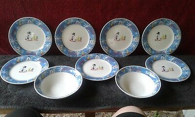 Coca Cola Laughing Snowman Collectible Dishes