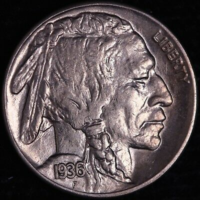 UNC+ 1936-S Buffalo Nickel R10SGAF