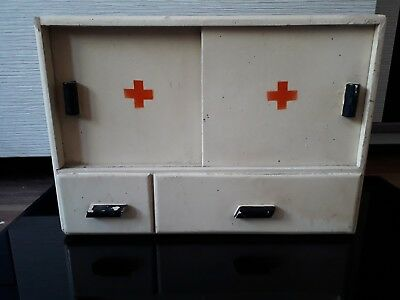 Vintage wooden  apothecary  cabinet