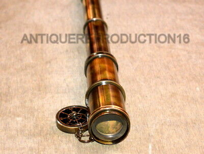 "Vintage Telescope 15"" Antique Brass Dollond London 1920 Meritime Spyglass Scope"