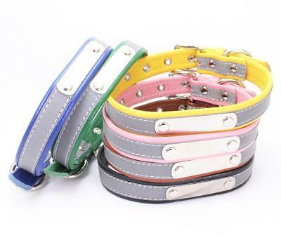 Reflective Personalised Dog Collars Soft for Small Dogs Puppy Cat Chihuahua XS L