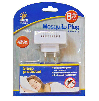 Sure Travel Mosquito Insect Repellent Plug (2 Pin) / Refills / Wrist Bands