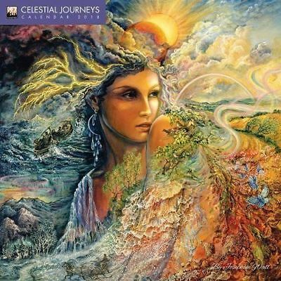 Celestial Journeys by Josephine Wall 2018 Square Wall Calendar