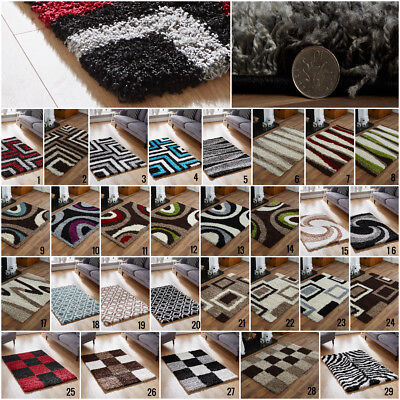 New  Small - Large Soft Shaggy 5Cm High Thick Pile Non Shed Cosy Shaggy Rug Sale