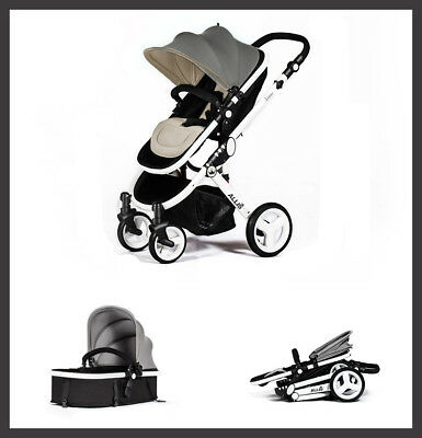 2in1 Venus Baby Pram Pushchair Buggy Stroller - Carry Cot - Travel Set