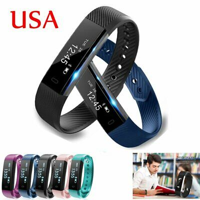 Sports Fitness Tracker Smart Watch Band Bracelet Wristband Pedometer Alarm Clock