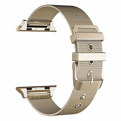 Milanese Loop Stainless Steel Band 38mm Classic Buckle Apple Watch Series 3 Gold