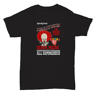 IT STEPHEN KING PENNYWISE HORROR CHRISTINE FILM MOVIE CULT CLASSIC BLACK T Shirt