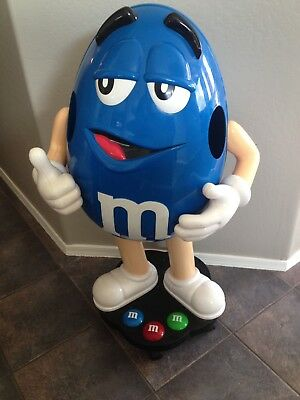 Rare 3ft Blue M&M Character Store Display