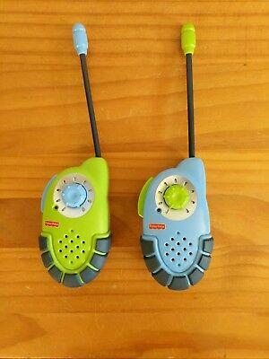 Fisher-Price Kid Tough Walkie Talkies Blue and Lime Green (27 MHZ)