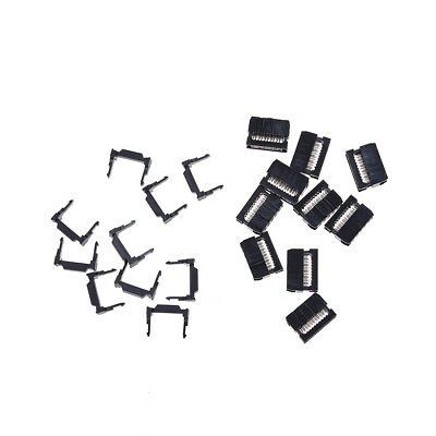 10X FC-10P IDC 2.54mm Connector Female Header 10pin 2x5 JTAG ISP Socket Black xF