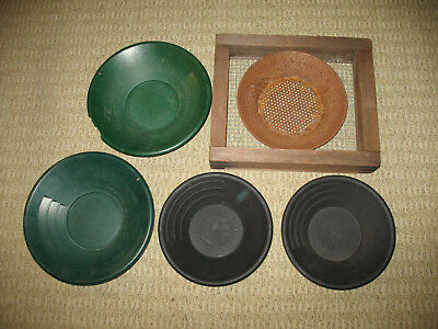 Gold Mining Panning Sluice Box Garretts Gravity Trap Prospecting Lot