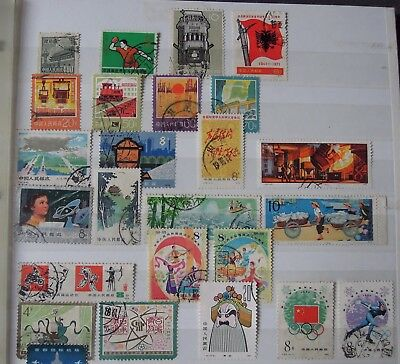 Lot East Asia used stamps, mainly China and Japan