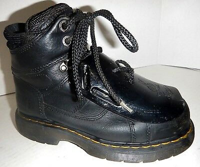 Dr. Martens STEEL TOE  INDUSTRIAL BOOTS metatarsal guard WOMEN sz 6 PERFECT