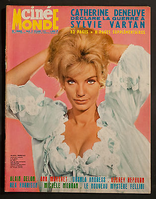 'cinemonde' French Vintage Magazine Maria Perschy Cover 22 December 1964
