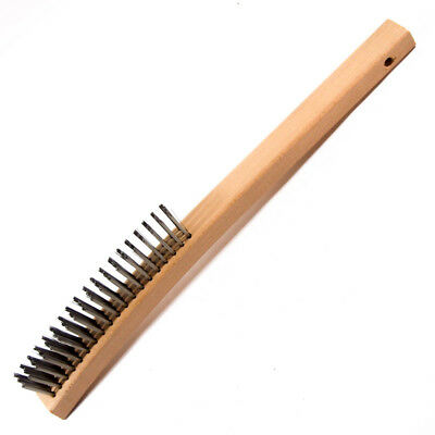 Prestige Plus 64000438P Stainless Steel Wire Scratch Brush w/ Curved Handle