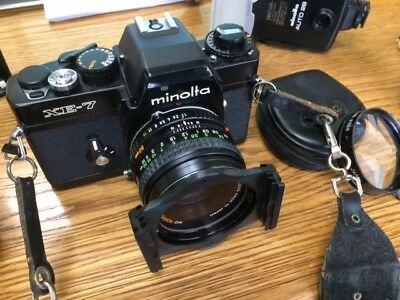 Minolta XE-7 Camera Outfit Multiple Lenses