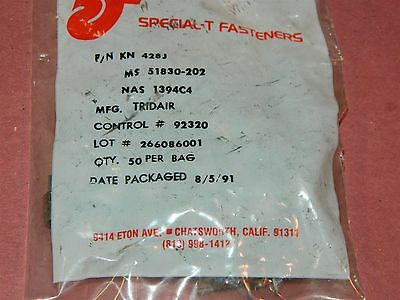 Special T Fasteners KN 428J 1/4-28 K94178001 Tridial Heli Coil Thread   LOT # 8