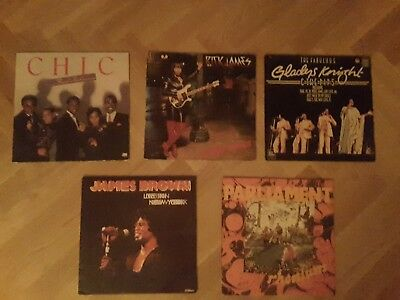 Funk Soul LP Paket Rick James, Parliament, James Brown, Chic, Gladys Knight