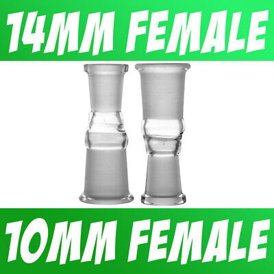 Scientific Lab Glass Adapter Fitting 10mm Female to 14mm Female
