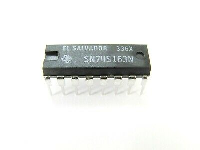 Texas Instruments SN74S163N - Synchronous 4-Bit Counter - 16-Pin DIP IC **NOS!**
